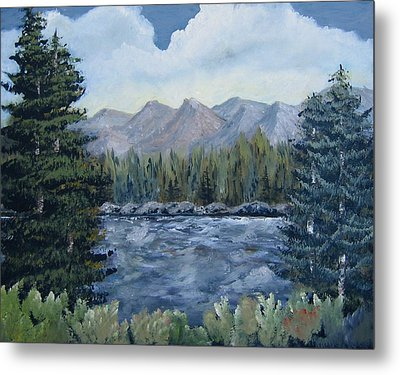 Metal Print featuring the painting Along The Way by Suzanne Theis