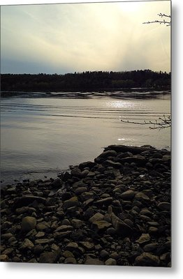 Alongside The Hudson Metal Print