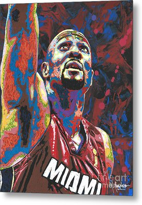 Alonzo Mourning Metal Print by Maria Arango