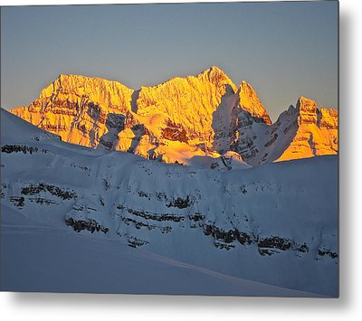 Alpenglow In Canada Metal Print