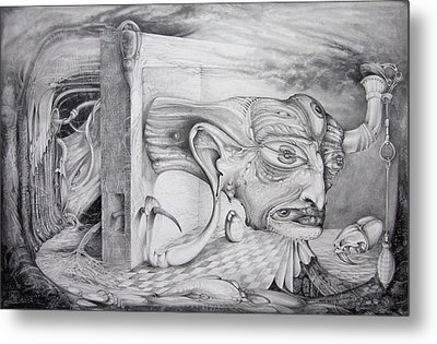 Metal Print featuring the drawing Alpha And Omega - The Reconstruction Of Bogomils Universe by Otto Rapp