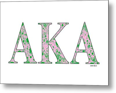 Alpha Kappa Alpha - White Metal Print by Stephen Younts