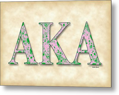 Alpha Kappa Alpha - Parchment Metal Print by Stephen Younts