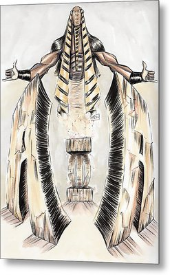 Alpha Pharaoh  Metal Print by Tu-Kwon Thomas