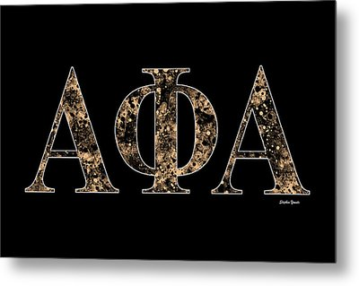 Alpha Phi Alpha - Black Metal Print by Stephen Younts