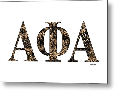 Alpha Phi Alpha - White Metal Print by Stephen Younts