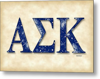 Alpha Sigma Kappa - Parchment Metal Print by Stephen Younts