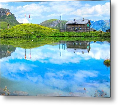 Alpine Blue Metal Print