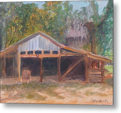 Alpine Groves Fruit Packing Shed Metal Print