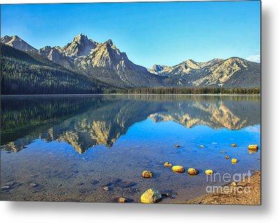 Alpine Lake Reflections Metal Print