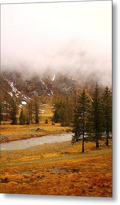 Alpine Mist Metal Print