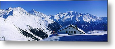 Alpine Scene In Winter, Switzerland Metal Print by Panoramic Images