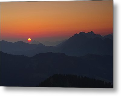 Alpine Sunrise Metal Print by Ulrich Burkhalter
