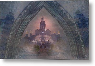 Metal Print featuring the digital art Alqualonde Castle by Kylie Sabra