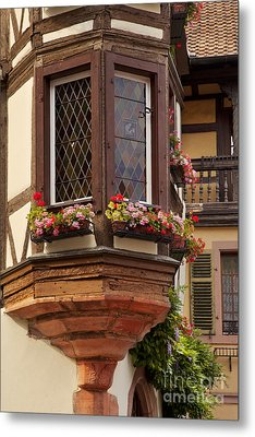 Alsace Window Metal Print by Brian Jannsen