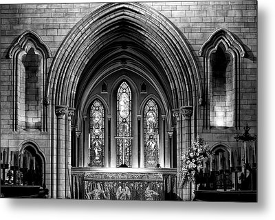 Altar At St Patricks Cathedral - Close Up Metal Print by Photography  By Sai