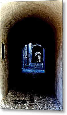 Altered Arch Walkway Metal Print