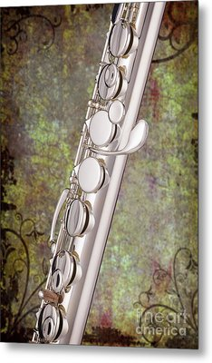 Alto Flute Music Instrument Photograph In Color  3402.02 Metal Print by M K  Miller