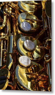 Alto Sax Reflections Metal Print by Ken Smith
