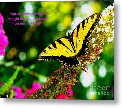 Always Hope - Butterfly Metal Print
