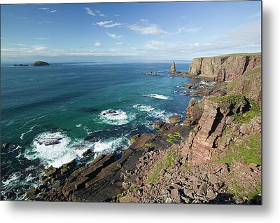 Am Buachaille Sea Stack Metal Print by Ashley Cooper