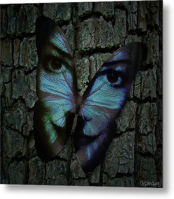 Am I A Butterfly Dreaming I Am A Human ? Metal Print