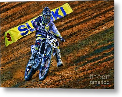 Ama 450sx Supercross Jason Anderson Metal Print