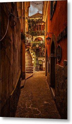 Amalfi Alleyway Metal Print