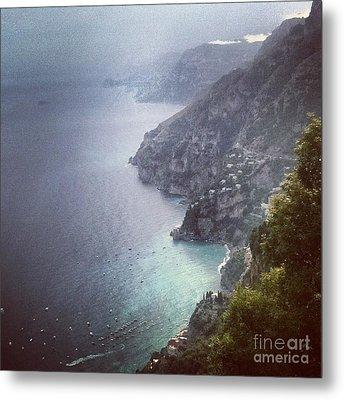 Amalfi Coast And Beyond Metal Print by H Hoffman