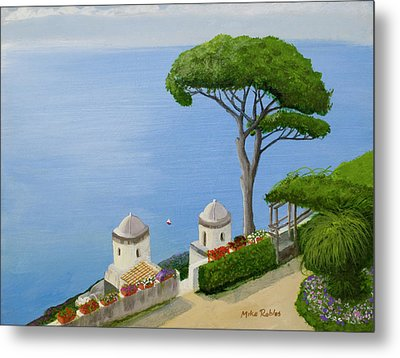 Amalfi Coast From Ravello Metal Print by Mike Robles