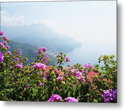 Amalfi Coast View From Ravello Italy  Metal Print by Irina Sztukowski