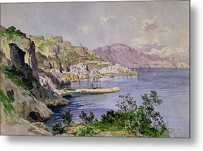 Amalfi Metal Print by Ludwig Hans Fischer
