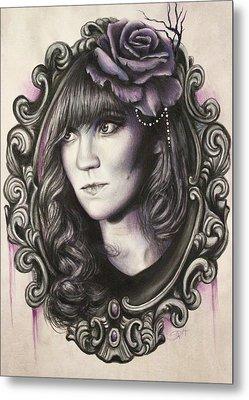 Amanda Denis - Tribute Portrait  Metal Print by Sheena Pike
