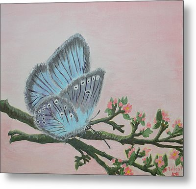 Amandas Blue Dream Metal Print by Felicia Tica