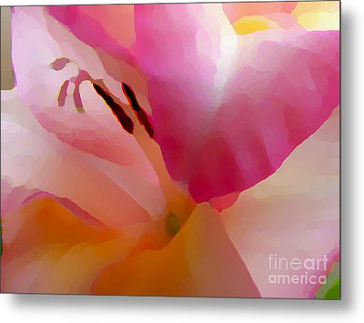 Gladiola Photo Painting Metal Print by Rich Collins