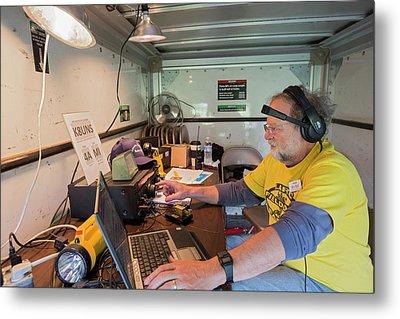 Amateur Radio Operator Metal Print by Jim West