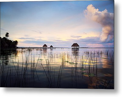 Amazing Bay Sunset Metal Print by Yuri Santin