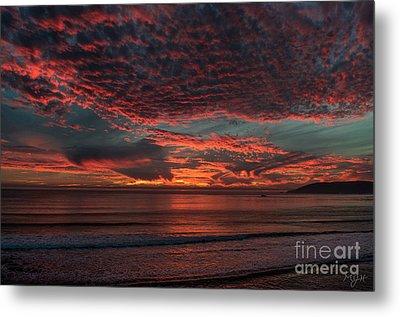 Amazing Blazing Sunset Metal Print