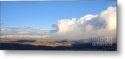 Amazing Cloud Swallows Red Rocks Of Sedona Arizona Metal Print by Ron Chilston