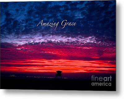 Metal Print featuring the photograph Red Sky At Night by Margie Amberge