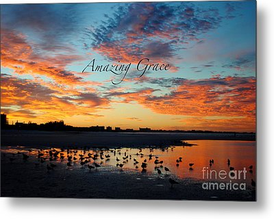 Metal Print featuring the photograph Amazing Grace On Siesta Key by Margie Amberge