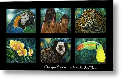 Amazon Series Collage Metal Print by Sandra LaFaut