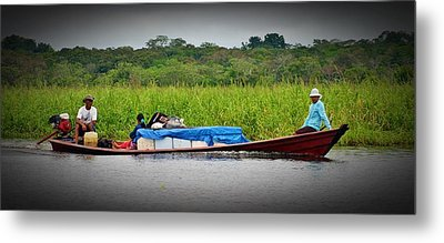 Metal Print featuring the photograph Amazon Travel by Henry Kowalski