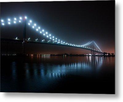 Ambassador Bridge Fog Metal Print by Cale Best