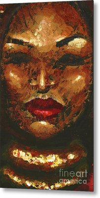 Amber Metal Print by Alga Washington