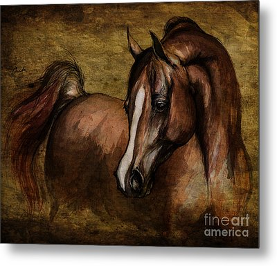 Amber  Metal Print by Angel  Tarantella