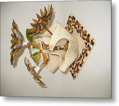 Amber Flowers Metal Print by Steven Schramek