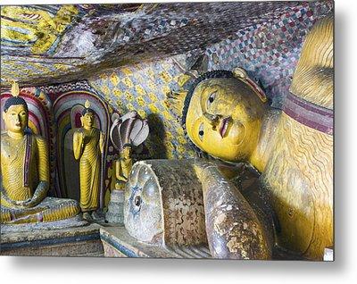 Dambulla Golden Temple  Cave No. 4 Metal Print