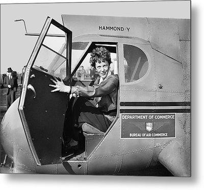 Amelia Earhart - 1936 Metal Print