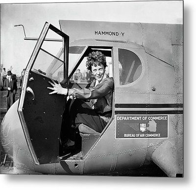 Amelia Earhart Metal Print by Library Of Congress